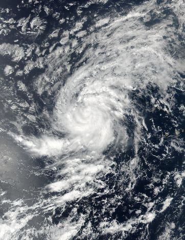 Satellite image of Tropical Storm Irma pictured here in the Eastern Atlantic Ocean on August 30, 2017. Image taken August 30, 2017. NASA/NOAA /Goddard Rapid Response Team/Handout via REUTERS ATTENTION EDITORS THIS IMAGE WAS PROVIDED BY A THIRD PARTY.