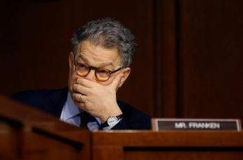 FILE PHOTO: Senator Al Franken (D MN) listens during the Senate Judiciary Committee confirmation hearing for Supreme Court nominee judge Neil Gorsuch on Capitol Hill in Washington, U.S. March 20, 2017. REUTERS/Jonathan Ernst/File Photo