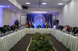 A general view of the meeting between members of Venezuela's government and the opposition coalition in Santo Domingo, Dominican Republic January 30, 2018. REUTERS/Ricardo Rojas