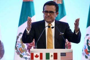 Mexican Economy Minister Ildefonso Guajardo gestures while speaking during a joint news conference on the closing of the seventh round of NAFTA talks in Mexico City, Mexico March 5, 2018. REUTERS/Edgard Garrido