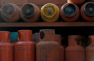 Gas cylinders are pictured in a truck in Mexico City, Mexico January 3, 2018. Picture taken January 3, 2018. REUTERS/Daniel Becerril