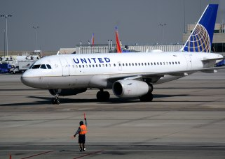 DENVER, CO August 25, 2016: A United Airlines Airbus A319 passenger plane taxis toward a gate at Denver International Airport in Denver, Colorado. (Photo by Robert Alexander/Getty Images)