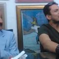Don Pepe Arévalo con su hijo Josúe y su nieto